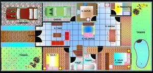 دانلود پروژه اتوکد خانه ویلایی با طراحی داخلی و مبلمان