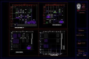 دانلود پروژه اتوکد ساختمان سه طبقه