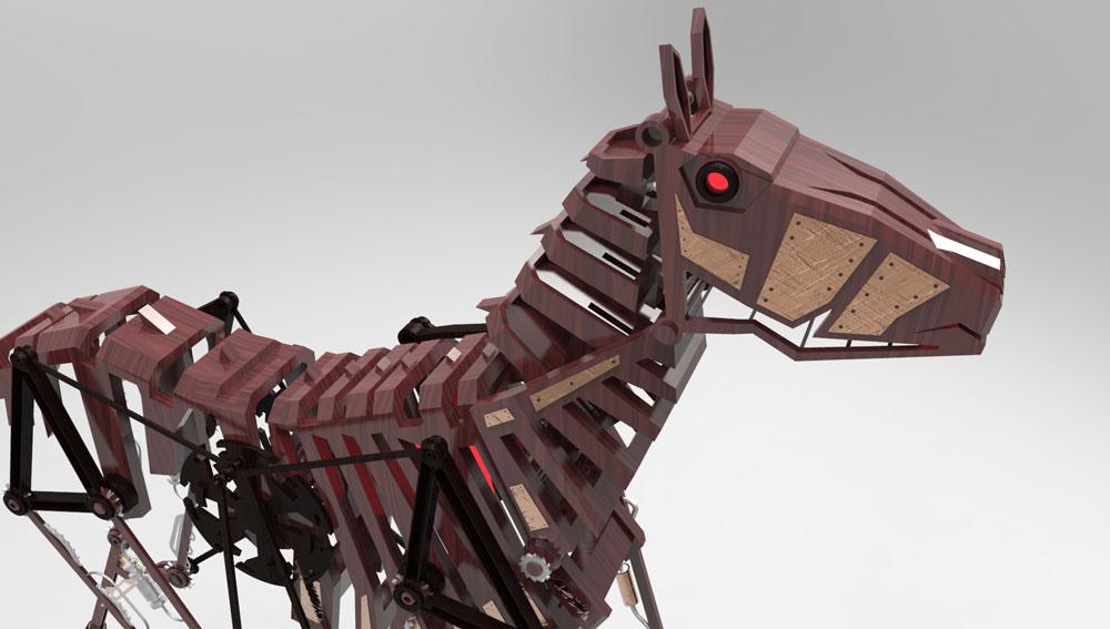 دانلود پروژه طراحی اسب مکانیکی (2)