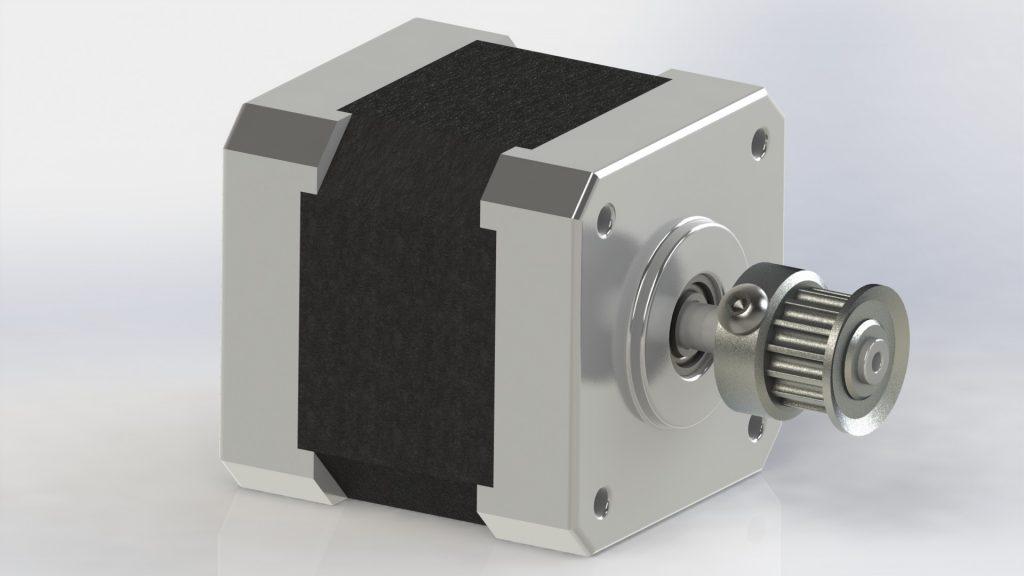 دانلود پروژه طراحی استپر موتور
