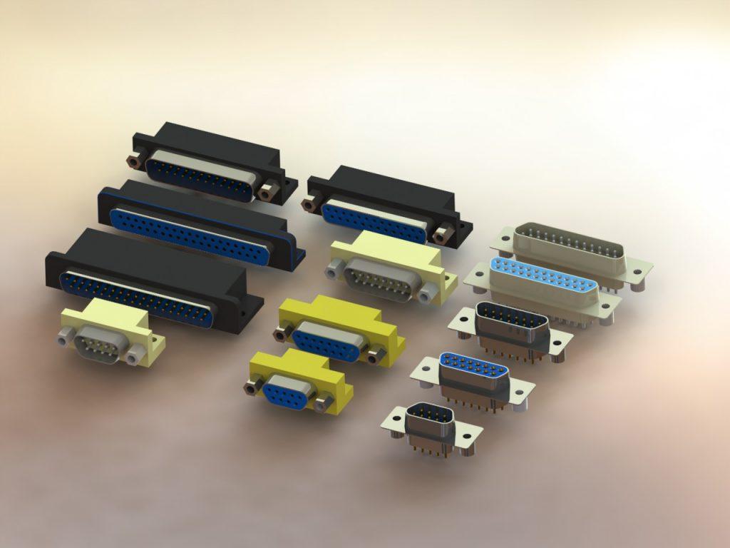 دانلود پروژه طراحی انواع دی کانکتور D-subminiature