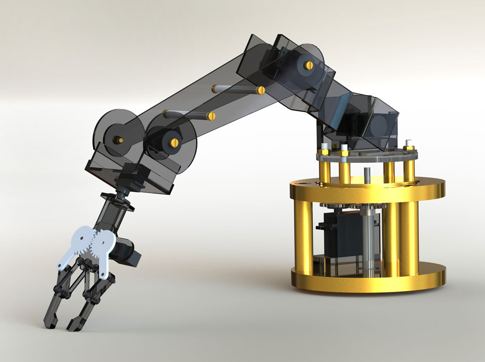 دانلود پروژه طراحی بازوی رباتیک
