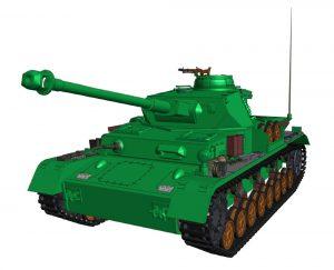 دانلود پروژه طراحی تانک آلمانی Tank WW2