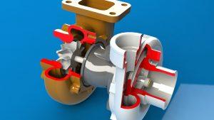 دانلود پروژه طراحی توربو شارژر (2) Turbocharger