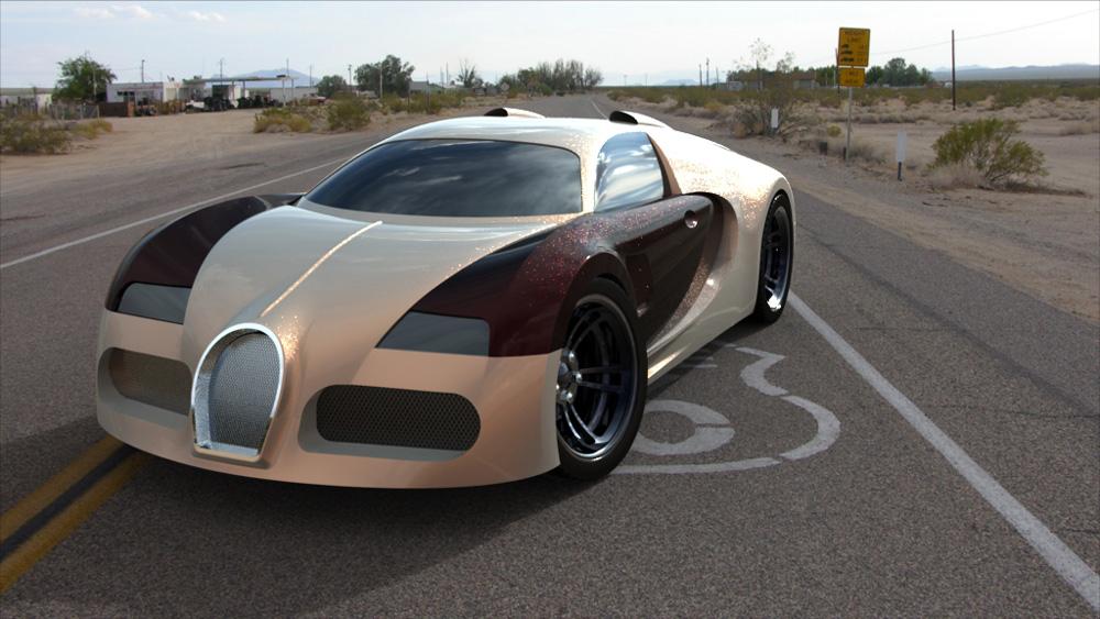 دانلود پروژه طراحی خودرو بوگاتی ویرون Bugatti Veyron (1)