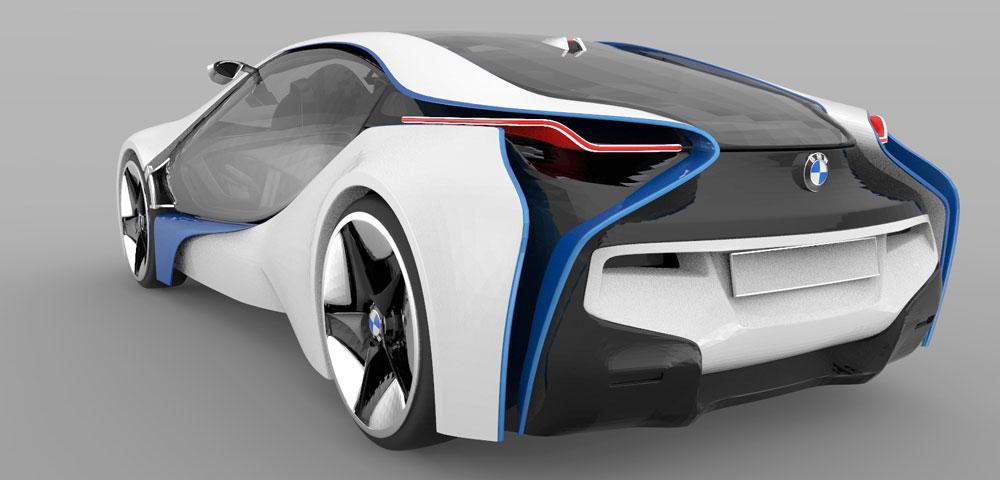 دانلود پروژه طراحی خودرو ب ام و BMW i8 Concept (2)