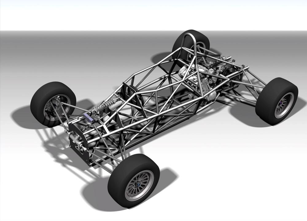 دانلود پروژه طراحی خودرو شاسی کامل مسابقات فرمول 1 formula car full chassis (1)