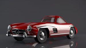 دانلود پروژه طراحی خودرو مرسدس بنز اس ال 300 (Mercedes-Benz 300SL)