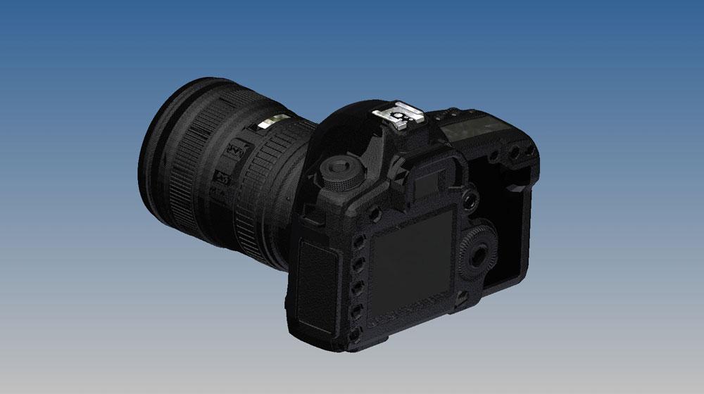 دانلود پروژه طراحی دوربین کانن Canon 5D
