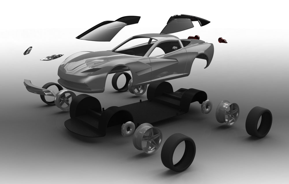 دانلود پروژه طراحی شورلت Corvette C7 (1)