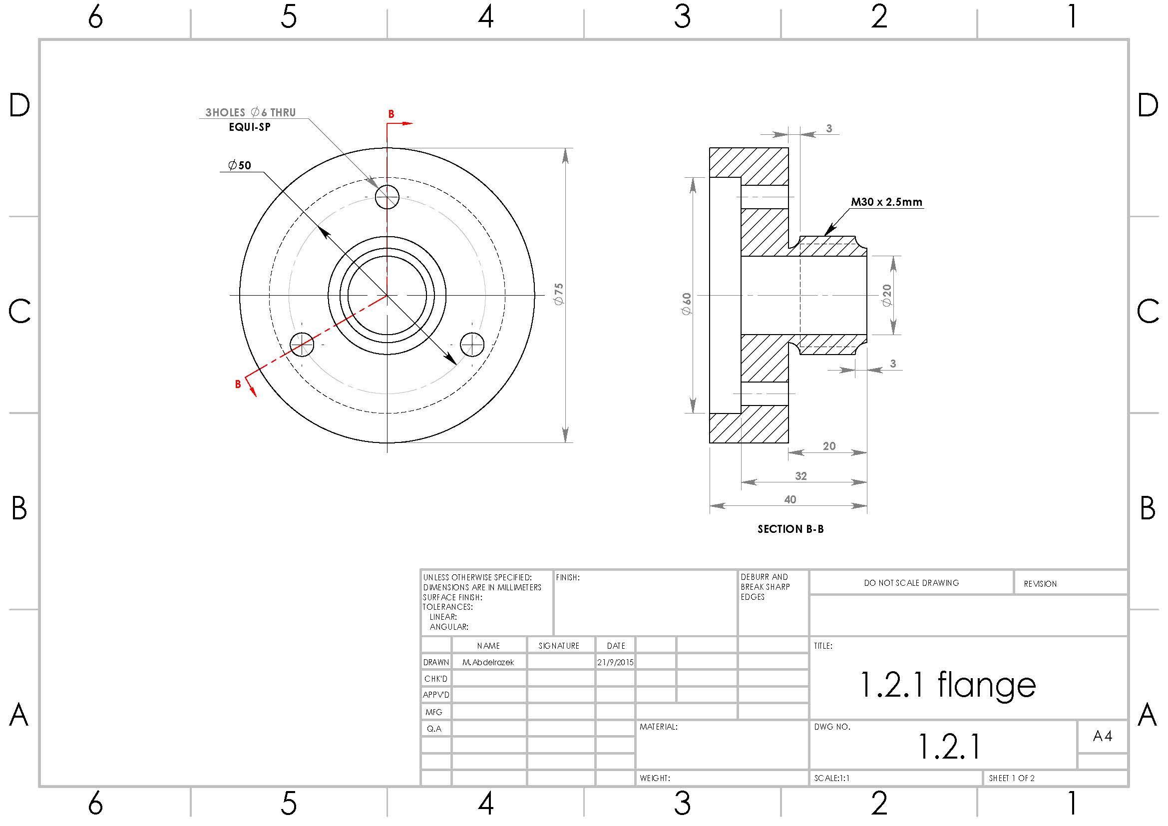 دانلود پروژه طراحی فلنج