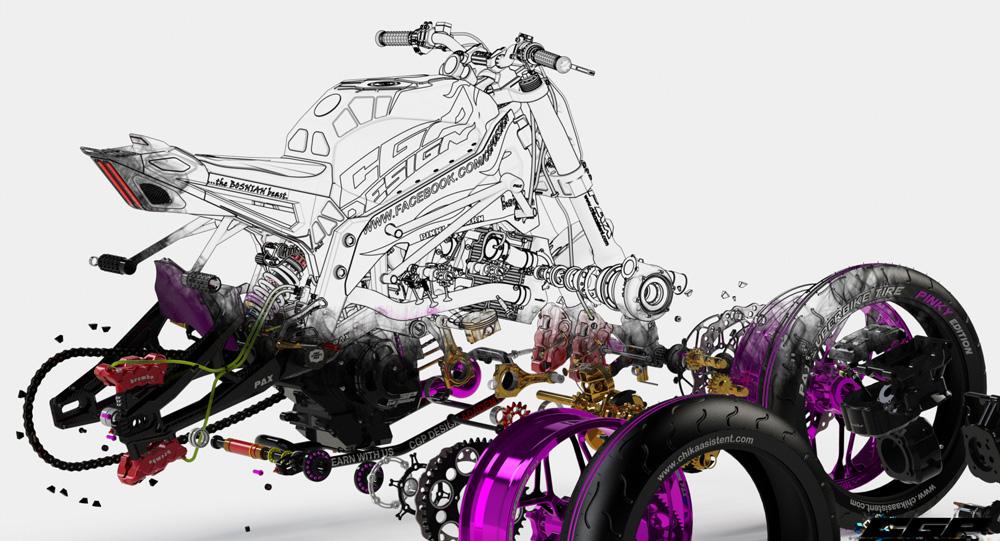 دانلود پروژه طراحی موتورسیکلت اسپرت (1)