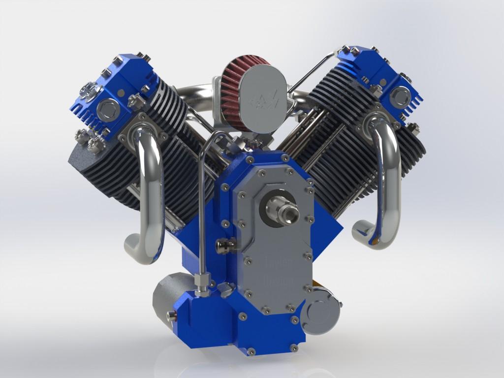 دانلود پروژه طراحی موتور دوقلو وی شکل موتورسیکلت Engine V Twin (3)