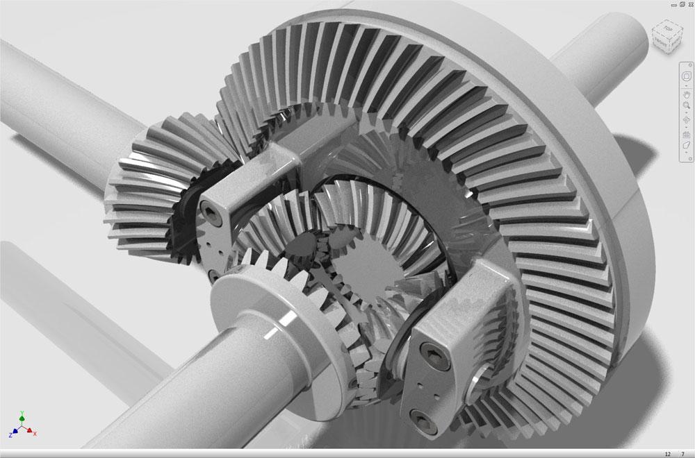 دانلود پروژه طراحی مکانیسم دیفرانسیل 2