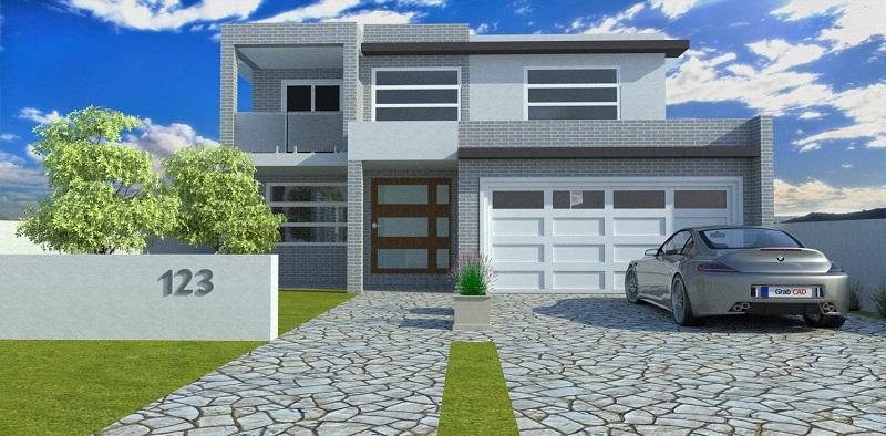 دانلود پروژه طراحی نقشه خانه ویلایی (2)
