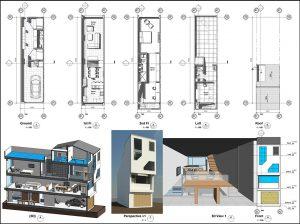 دانلود پروژه طراحی نقشه خانه 4 در 15 متری