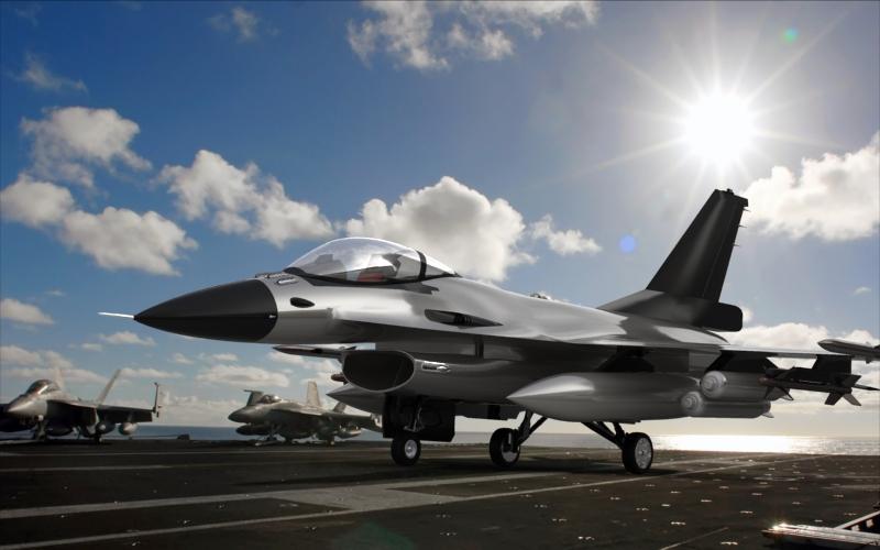 دانلود پروژه طراحی هواپیما جنگنده فالکون F16