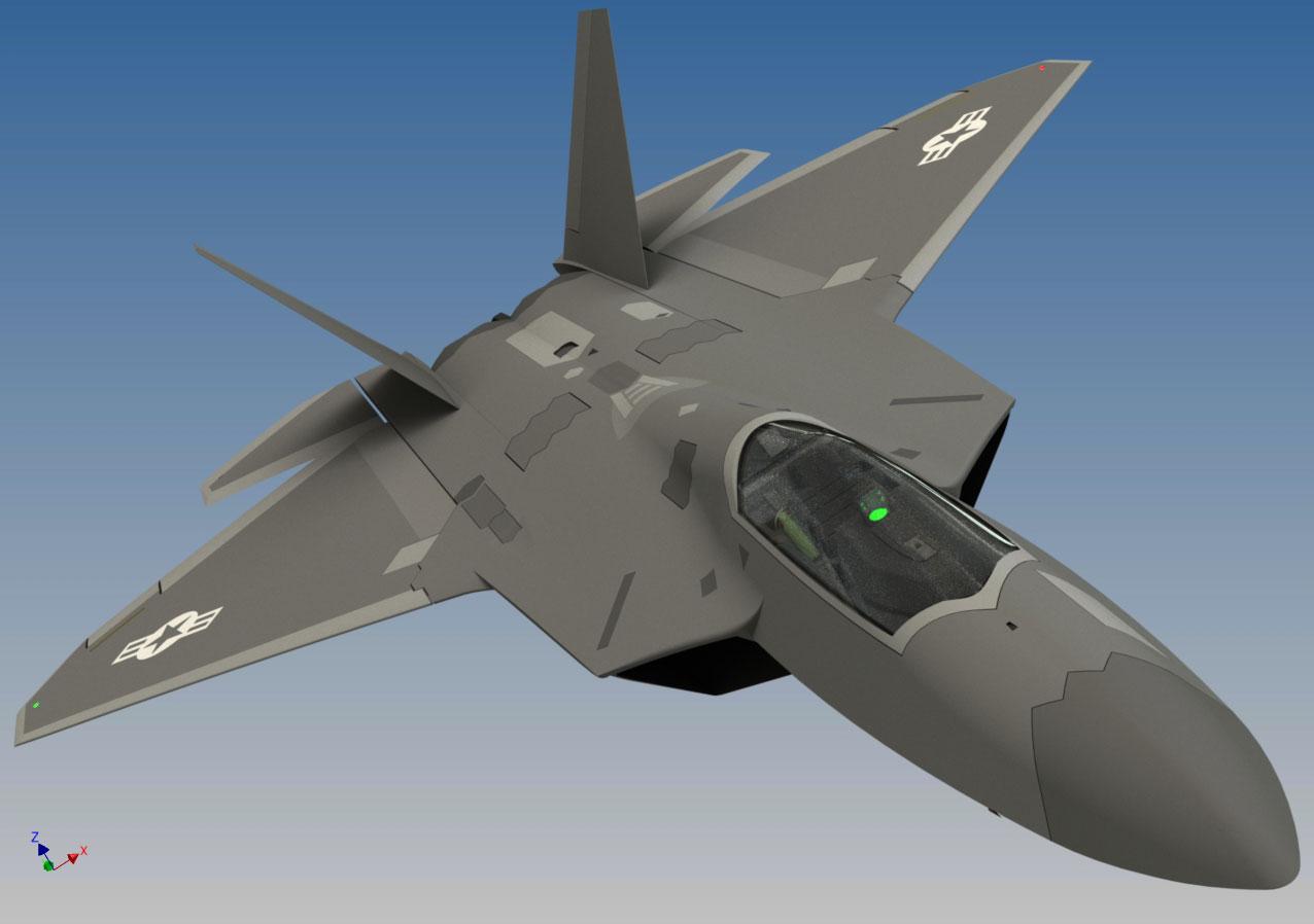 دانلود پروژه طراحی هواپیما جنگنده لاکهید مارتین Lockheed Martin F22 raptor (2)