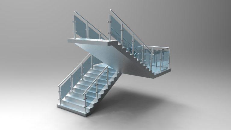 دانلود پروژه طراحی پله ساختمان