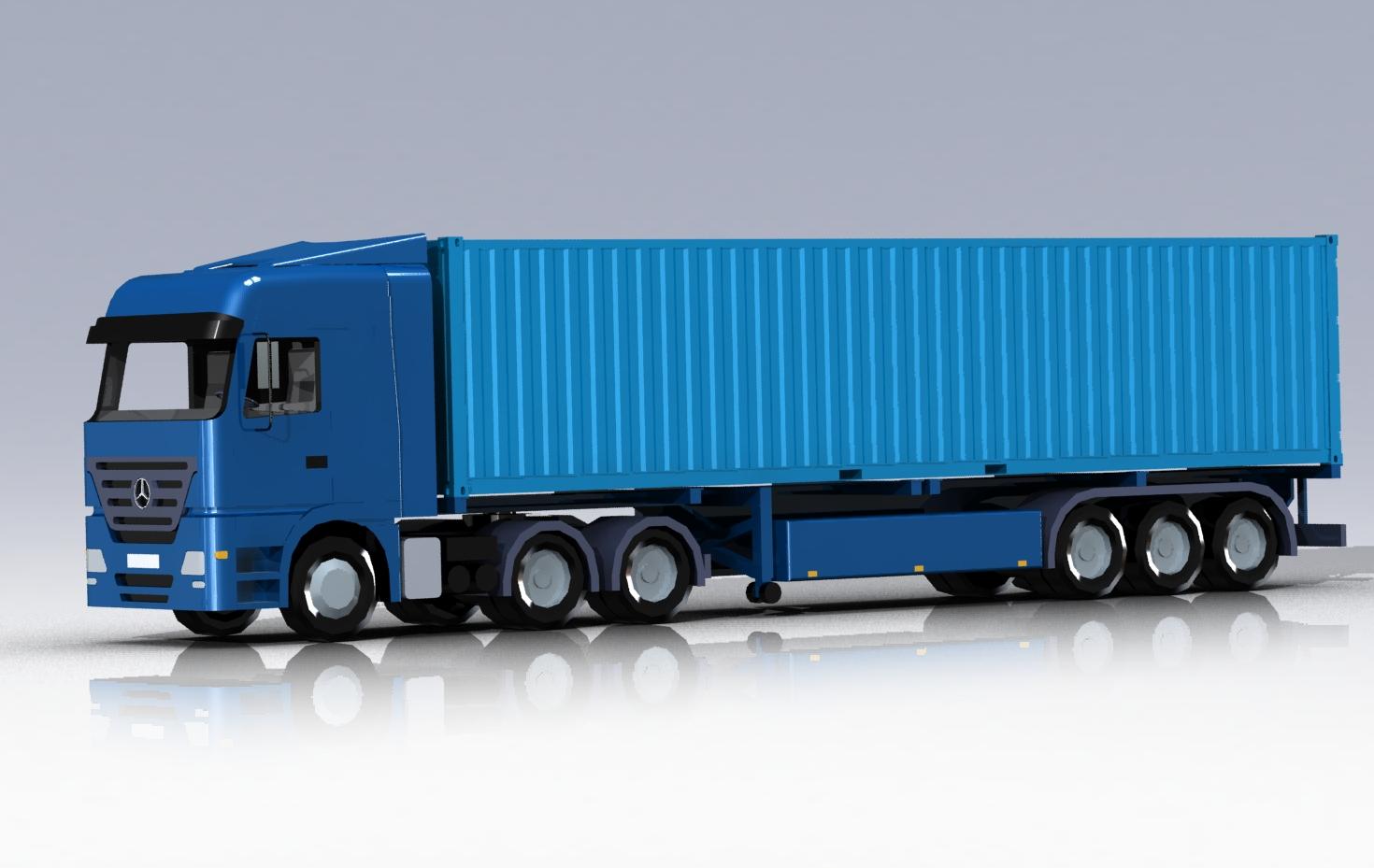 دانلود پروژه طراحی کامیون مرسدس بنز اکتروس MB Actros