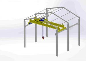 دانلود پروژه طراحی جرثقیل سقفی