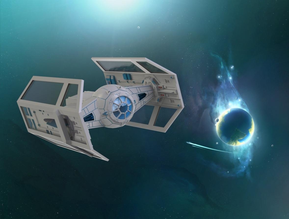 دانلود پروژه طراحی جنگنده فضایی (1)