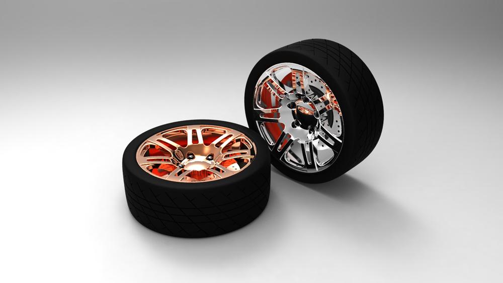 دانلود پروژه طراحی رینگ و تایر خودرو (لاستیک ماشین)