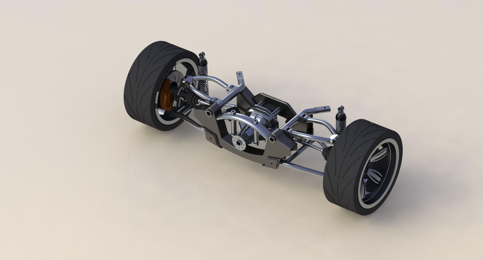 دانلود پروژه طراحی سيستم تعليق فنربندی عقب خودرو + دیسک ترمز و چرخ (2)