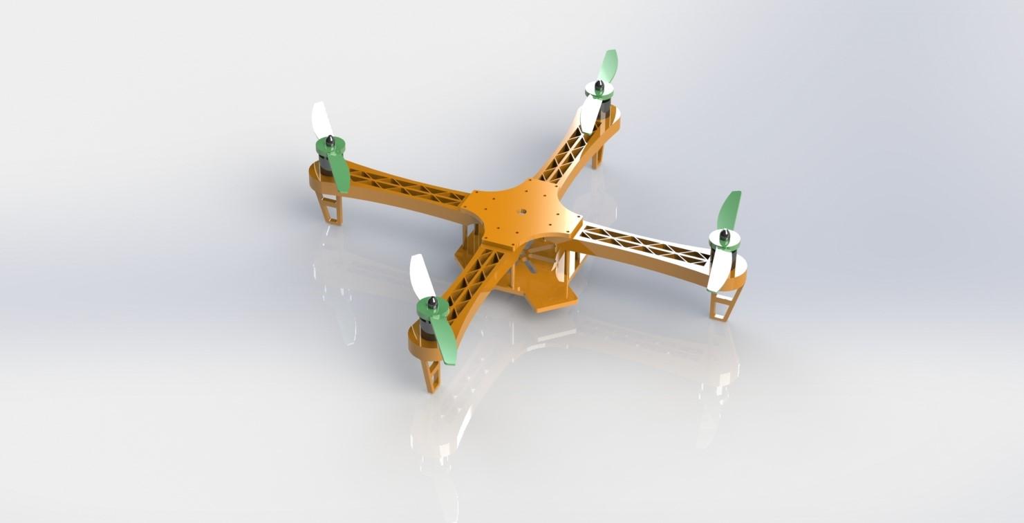 دانلود پروژه طراحی فریم و بدنه کوادکوپتر