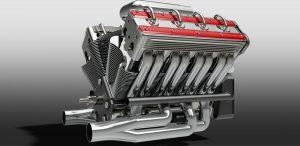 دانلود پروژه طراحی موتور 8 سیلندر وی شکل v8 engine (1)