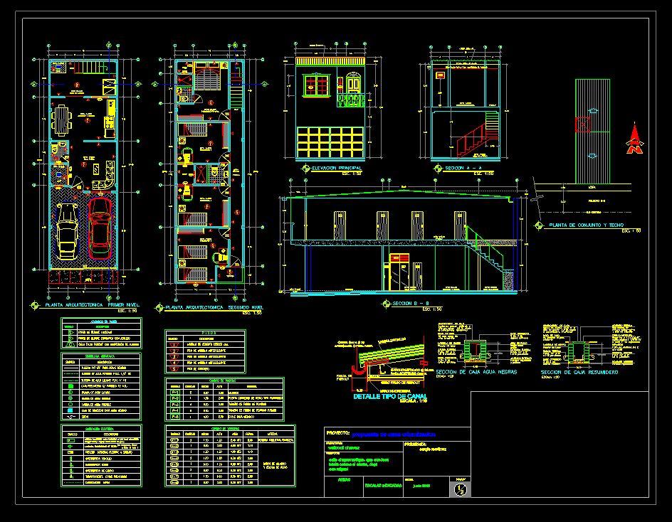 دانلود پروژه طراحی نقشه و پلان آپارتمان دو طبقه