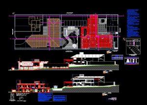 دانلود پروژه طراحی نقشه و پلان اقامتگاه 2 طبقه (2)