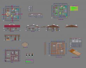 دانلود پروژه طراحی نقشه و پلان خانه چوبی