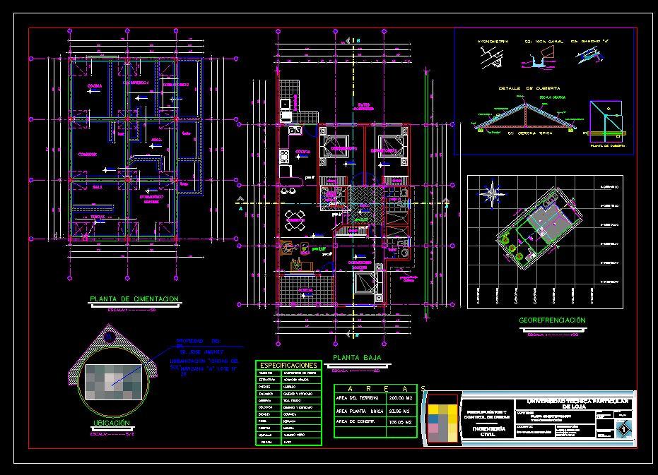 دانلود پروژه طراحی نقشه و پلان ویلا لوکس (4) + نقشه برق کشی
