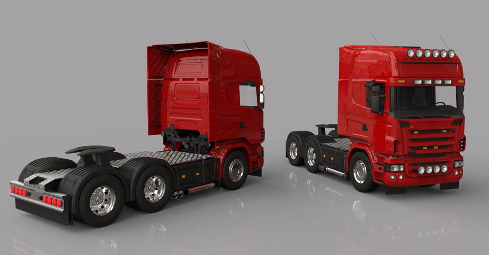 دانلود پروژه طراحی کامیون اسکانیا Scania