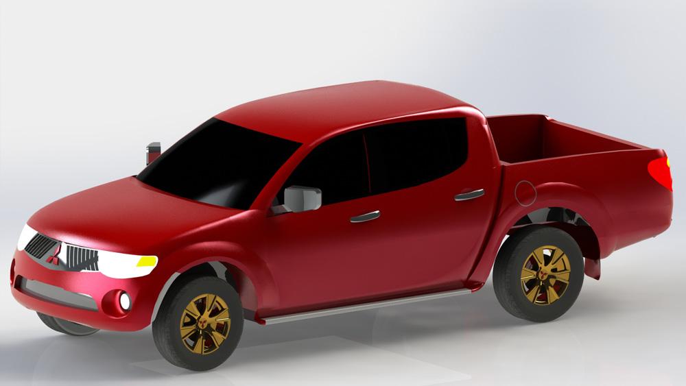 دانلود پروژه طراحی خودرو میتسوبیشی وانت دوکابین MITSUBISHI L200 (1)