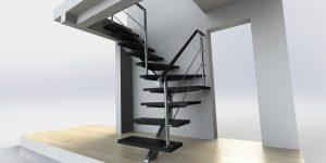 دانلود پروژه طراحی پله مدرن ساختمان