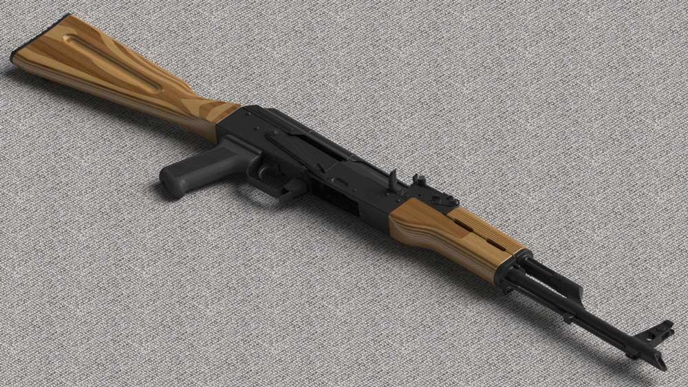 دانلود پروژه طراحی اسلحه کلاشینکف (کلاشنیکف) آکا AK-47