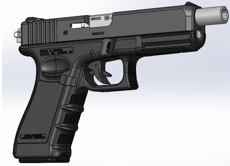 دانلود پروژه طراحی اسلحه کلت گلاک Glock 17