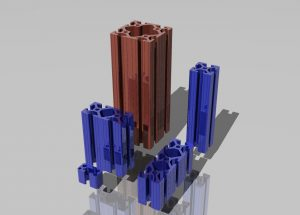 دانلود پروژه طراحی انواع پروفیل آلومینیومی شیاردار