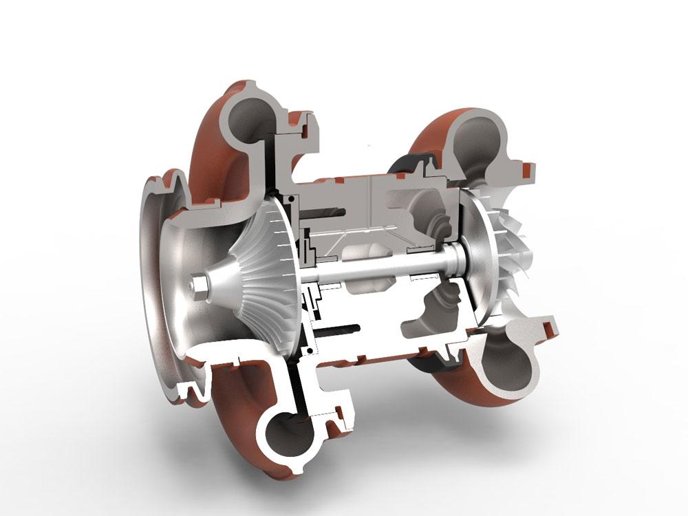 دانلود پروژه طراحی توربو شارژر (یاتاقان هوا-فویلی)
