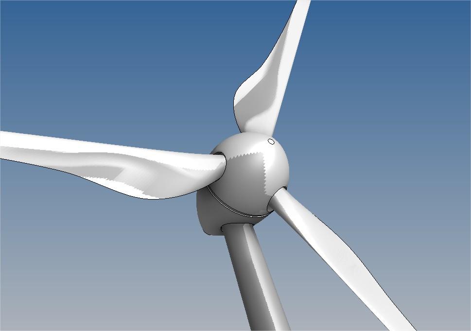دانلود پروژه طراحی توربین بادی محور افقی
