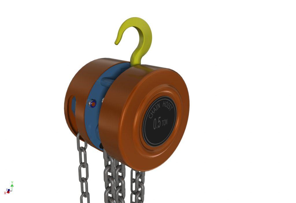 دانلود پروژه طراحی جرثقیل دستی زنجیری (قرقره زنجیری) (2)