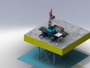 دانلود پروژه طراحی سکوی نفت