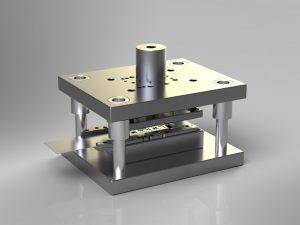 دانلود پروژه طراحی قالب فلزی برش و خمش چند مرحله ای (progressive die)