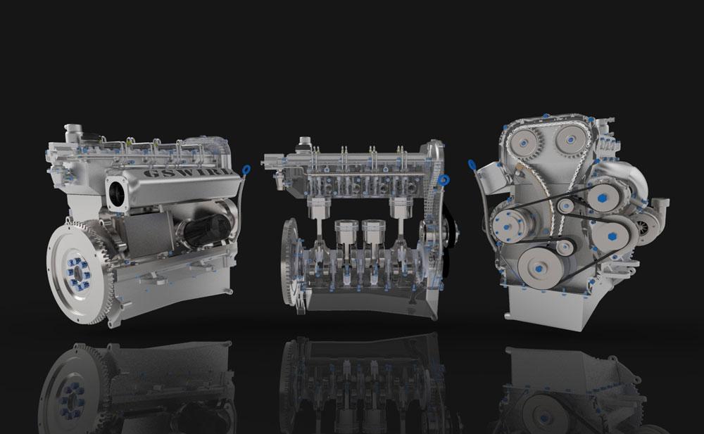 دانلود پروژه طراحی موتور توربو دیزل