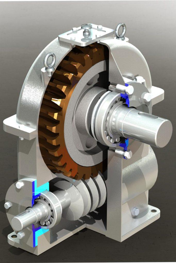 دانلود پروژه طراحی مکانیزم چرخ دنده کرمی