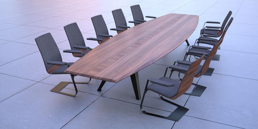 دانلود پروژه طراحی میز و صندلی کنفرانس
