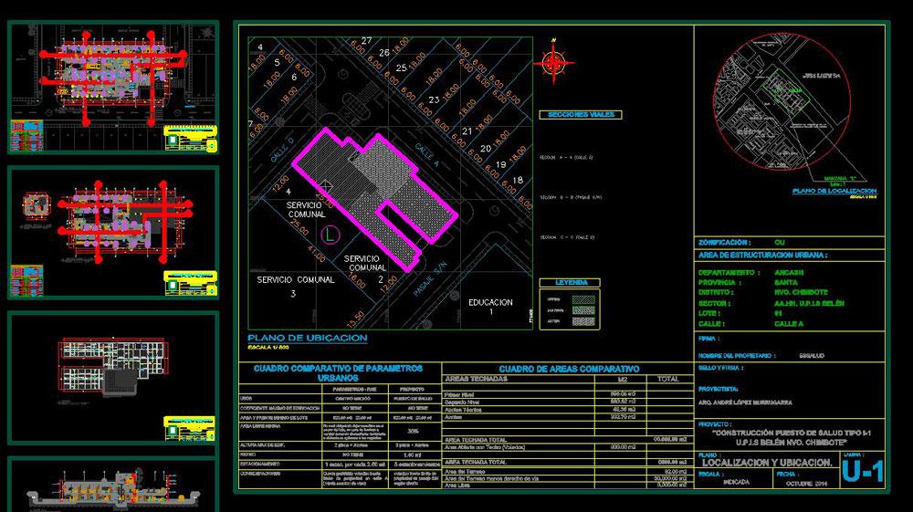 دانلود پروژه طراحی نقشه و پلان بیمارستان دو طبقه