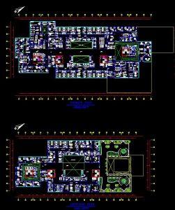 دانلود پروژه طراحی نقشه و پلان بیمارستان سه طبقه کودکان